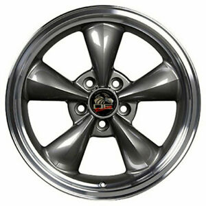 17 Anthracite W machined Lip Wheel 17x9 Fit For Mustang Bullitt Style Rim