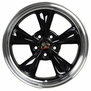 17 Black W machined Lip Wheel 17x9 Fit For Mustang Bullitt Style Rim