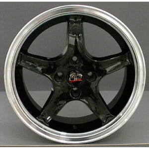 17 Black W mach d Lip Wheel 17x8 Fit For Mustang Cobra R Deep Dish Style