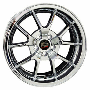 18 Chrome Wheel 18x10 Fit For Mustang Fr500 Style Rim
