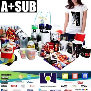 A sub Sublimation Heat Transfer Paper 105g 100 Sheets 8 5x11 Inch Inkjet Epson