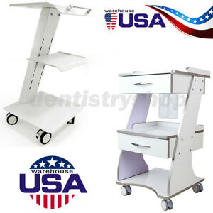 Ups Dental Mobile Instrument Cart Auto water Bottle Supply System Trolley