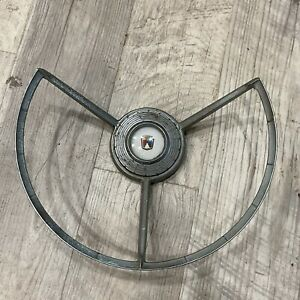 1957 1958 Ford Steering Wheel Horn Ring Button Feg 3624 Bw As Is
