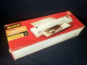 Scotch Tl1302 Laminator Extra Wide 13 inch Fast Warm up Fully Tested