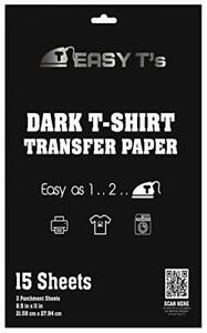 Easy T s Printable Iron On Heat Transfer Paper For Dark Fabric T Shirts 15