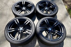 Oem Bmw 343m Black Forged Wheels Tires And Tpms Off 2016 Bmw M5 Competition
