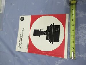Leitz Germany Brochure Measuring Toolmaker Microscope Part As Picture a9 a 117