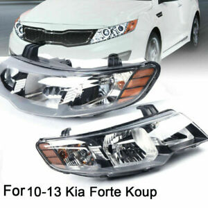 Front Headlights Turn Amber Corner Signal Lamps For 2010 2013 Kia Forte Koup
