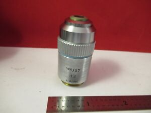 Leitz Germany Objective Ef 40x 160 Microscope Part Optics As Pictured 75 b 13