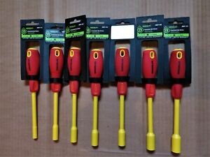 Greenlee Tools Insulated Cushion Grip Nut Driver Set 7 Piece Sae