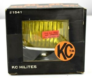Kc Hilites Vintage Nos Auxiliary Lighting 1541 Fog Lights Amber Yellow Lens