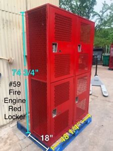 Superior Heavy Duty Metal School Gym Football Lockers Fire Engine Red Locker 59