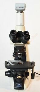 Nikon Eclipse E200 Y fl Trinocular Microscope With 4 Objectives Pixelink Camera