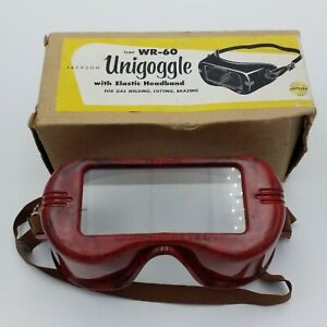 Vtg Jackson Products Unigoggles Type Wr 60 Welding Goggles W box Nos Red Marbled