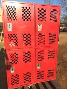 Big Republic Storage Heavy Duty Metal Cabinet Gym Football Lockers Red Locker 9