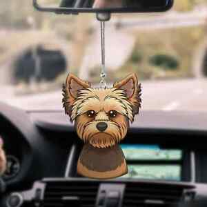 Yorkshire Terrier Cool Face Car Rearview Mirror Dog Car Hanging Ornament Decor