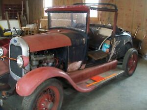 1928 Model A Ford Sport Coupe Project Jalopy Trog Street Rod Marc 28 29 Rat Rod