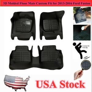 Floor Liners Mats Non Slip Custom Fit For Ford Fusion 2013 2016