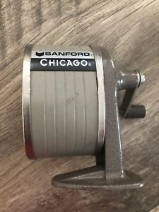 Vintage Sanford Chicago Wall Desk Mount Old School Pencil Sharpener