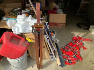 Antique Beauty Wood 8 Arm Kitchen Laundry Hanging Clothes Herb Dry Drying Rack
