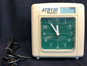 Vintage Acroprint Atr120 Electronic Top loading Time Recorder Time Clock