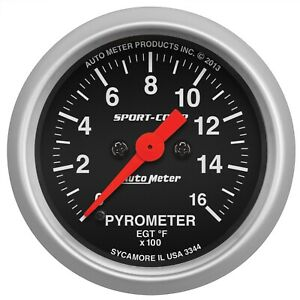Autometer 3344 Sport comp Electric Pyrometer Gauge Kit