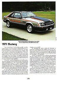 1979 Ford Mustang Article Must See