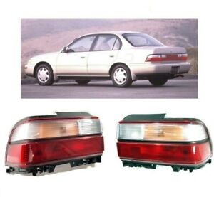 For 93 97 Toyota Corolla Tail Light Corner Lamp Jdm Set 2 Pcs Left Right