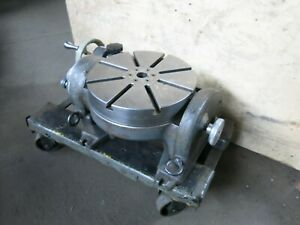 Hauser 12 1 4 Tilting Milling Rotary Table Made In Switzerland