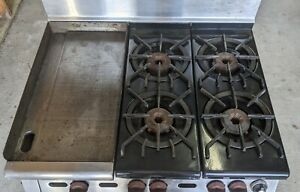 wolf C83 Commercial Lp Gas 4 Burner Stove W oven Griddle Minimal Use