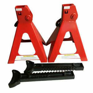 Pair 6 Ton High Lift Jack Stands Auto Garage Tools For Supporting Trucks Trailer