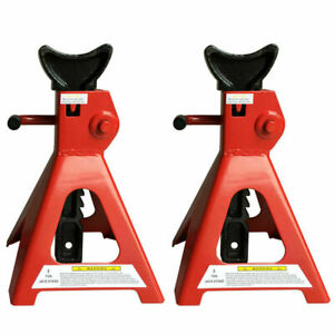 Pair Of Racing Jack Stands 3 Ton 6 000 Lb Pair Heavy Duty Car Truck Auto Red
