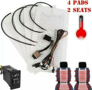Us Car Seat Carbon Fiber Heated Cushion Seat Heater Pad Switch Kit 12v Us Seller