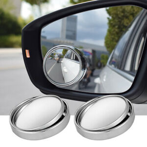 2x Universal 2 Wide Angle Convex Rear Side View Blind Spot Mirror For Universal