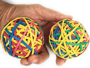 Assorted Color Rubber Band Ball 135 Gm X 2 195 Rubber Bands Per Ball For Di