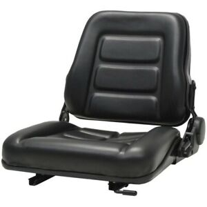 New Black Tractor Seat Universal W Backrest Slide Track Steel Compact Mower Us
