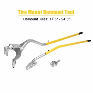 3pcs Tire Changer Tire Mount Demount Tool Tools Tubeless Truck 17 5 To 24 Kit
