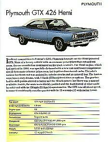 Plymouth Gtx 426 Hemi Article Must See