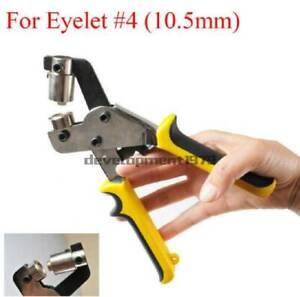 Hand Press Grommet Punching Machine Tool For Eyelet 4 10 5mm Hole Puncher New