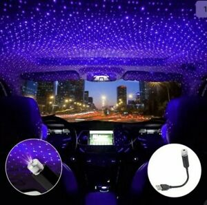 Usb Luminous Car Roof Night Lights Projector Interior Light Atmosphere Ambient