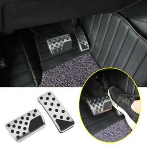 Fit For 2011 2021 Jeep Grand Cherokee Silver Gas Brake Pedals Cover Pad At 2p
