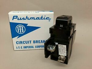 New 15 20 30 40 50 60 100 Amp Pushmatic Breakers Ite 1 2 Pole all Sizes