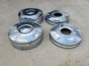 Ford F250 E250 F350 E350 Oem Dog Dish Hubcaps Van Truck Set Center Caps 4x4