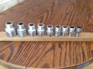 9 Hazet 900z Sockets 11 16 To 3 16 Whitworth With 1 2 Drive