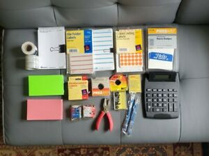 Mixed Lot Of School Office Home Teacher Classroom Supplies New Vintage Used