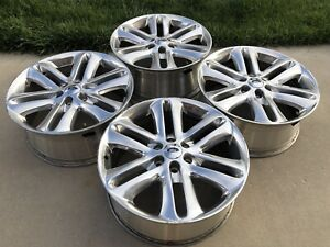 22 Ford F150 Expedition F 150 Oem Factory Polished Wheels Rims 4 Tpms Incld