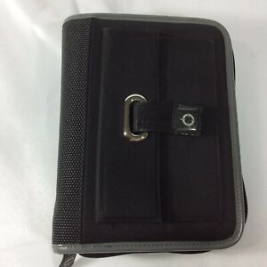 Sport Compact Size Franklin Covey Planner Binder Organizer Canvas Black Rings