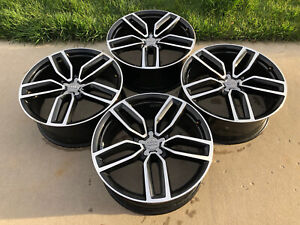 Audi Sq5 Q5 21 Wheel Rim Factory Oem Black Speedline Set 4 With Center Caps