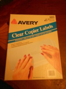 Avery 5311 Clear Copier Labels 1 X 2 3 4 Mailing Address Self adhesive Open Box