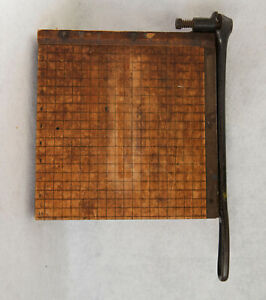 Ingento No 3 Vintage Guillotine Paper Cutter By Ideal School Supply Co